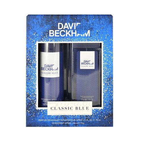 Dezodoranto rinkinys David Beckham Classic Blue Deodorant 75ml Paveikslėlis 1 iš 1 2508910001229
