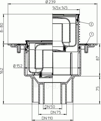 Didelio pralaidumo trapas vidaus patalpoms HL3100 Paveikslėlis 2 iš 2 310820253560