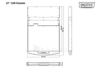 DIGITUS Console with 43.2 cm (17) TFT, Keyboard & Touchpad Paveikslėlis 5 iš 5 250257501463