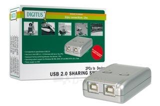 Digitus Komutatorius USB2.0 2 PC-1 USB Paveikslėlis 1 iš 1 250256600353