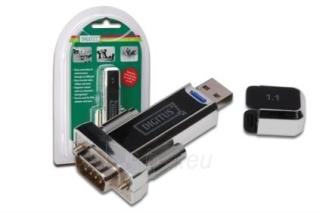 Digitus Konverteris USB 1.1/RS232 (DB9M) Paveikslėlis 1 iš 3 250255081397