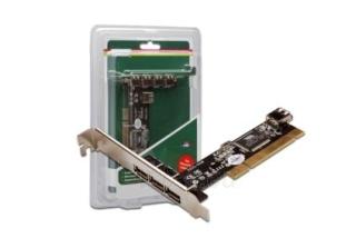 Digitus Plokštė PCI 4x USB 2.0 , chipset VIA Paveikslėlis 2 iš 3 250255081431