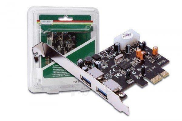 DIGITUS Plokštė USB 3.0 PCI Express 2-portai Paveikslėlis 1 iš 2 250255081448