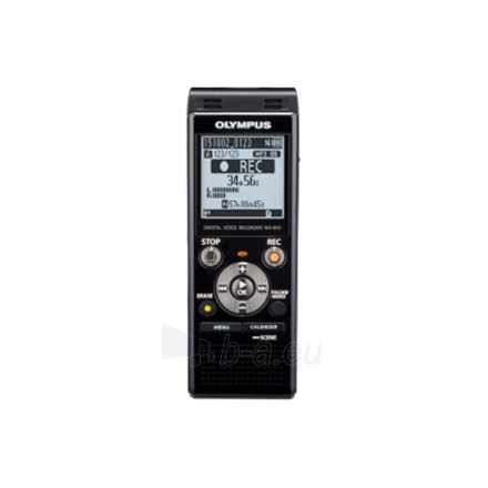 Diktofonas Olympus WS-853 Digital Voice Recorder with MP3 Player, 8GB internal memo, inc. Rechargeable Ni-MH Batteries and Case, Black Paveikslėlis 1 iš 8 250213000167