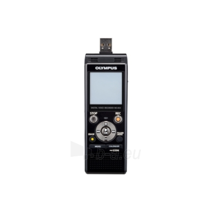 Diktofonas Olympus WS-853 Digital Voice Recorder with MP3 Player, 8GB internal memo, inc. Rechargeable Ni-MH Batteries and Case, Black Paveikslėlis 2 iš 8 250213000167