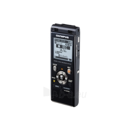 Diktofonas Olympus WS-853 Digital Voice Recorder with MP3 Player, 8GB internal memo, inc. Rechargeable Ni-MH Batteries and Case, Black Paveikslėlis 3 iš 8 250213000167