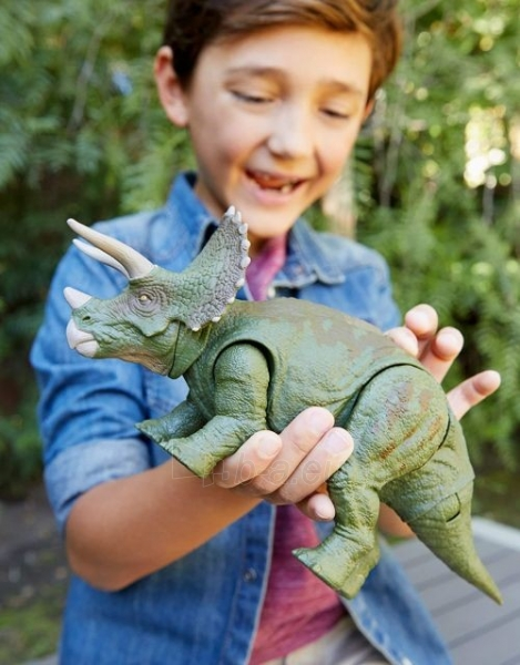 Dinozauras GJN65 Jurassic World Dual Attack Triceratops MATTEL Paveikslėlis 5 iš 6 310820230669