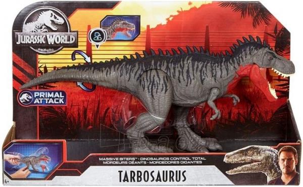 Dinozauras GJP33 / GJP32 Jurassic World Massive Biters Tarbosaurus MATTEL Paveikslėlis 2 iš 6 310820230662