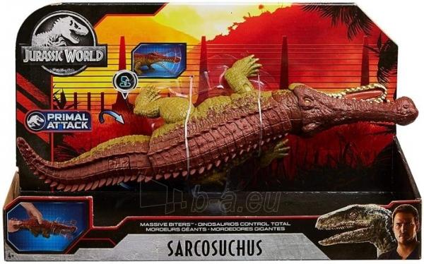 Dinozauras GJP34 Jurassic World Massive Biters Sarcosuchus MATTEL Paveikslėlis 2 iš 6 310820230667