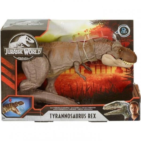 Dinozauras GLC12 Mattel Jurassic World Extreme Chompin Tyrannosaurus Rex Paveikslėlis 3 iš 6 310820230661