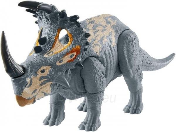Dinozauras GMC98 / GJN64 JURASSIC WORLD SOUND STRIKE Sinoceratops MATTEL Paveikslėlis 2 iš 6 310820230665