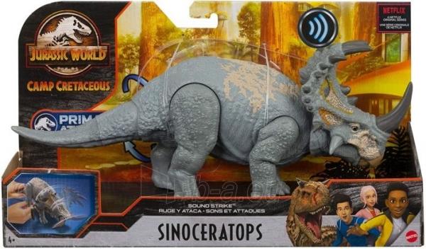 Dinozauras GMC98 / GJN64 JURASSIC WORLD SOUND STRIKE Sinoceratops MATTEL Paveikslėlis 5 iš 6 310820230665