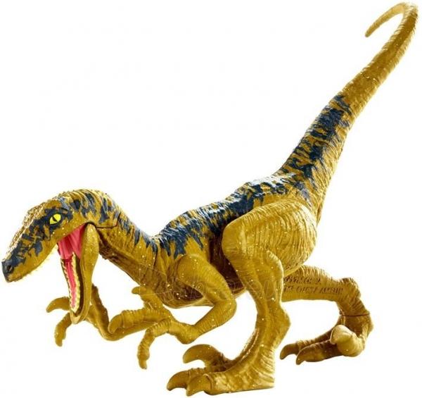 Dinozauras Jurassic World GCR46 / FPF11 Attack Pack Velociraptor Delta MATTEL Paveikslėlis 5 iš 6 310820230652