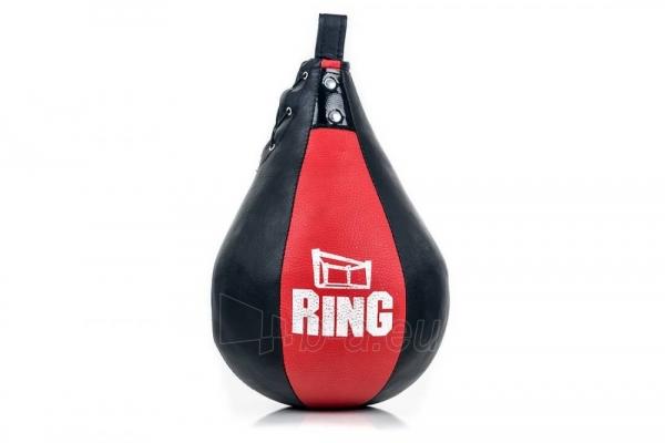 Dirbtinės odos bokso kriaušė Ring Sport juoda/raudona 2kg Small Paveikslėlis 1 iš 7 310820250552