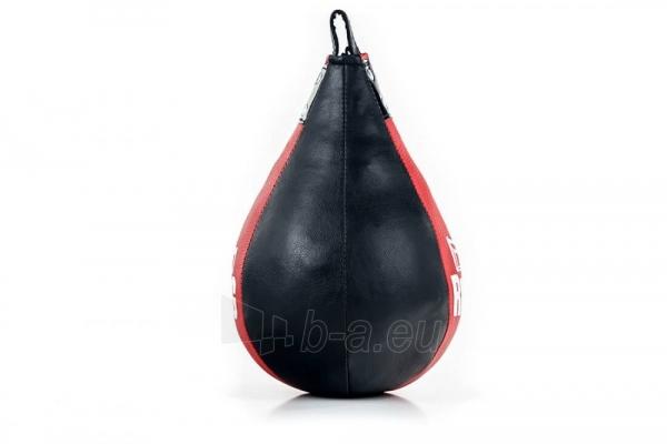 Dirbtinės odos bokso kriaušė Ring Sport juoda/raudona 2kg Small Paveikslėlis 3 iš 7 310820250552
