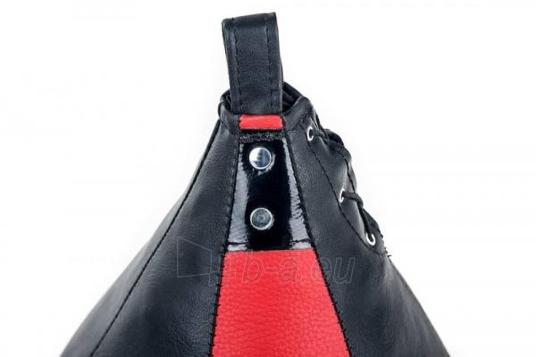 Dirbtinės odos bokso kriaušė Ring Sport juoda/raudona 2kg Small Paveikslėlis 4 iš 7 310820250552