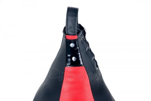 Dirbtinės odos bokso kriaušė Ring Sport juoda/raudona 5kg Large Paveikslėlis 3 iš 7 310820250553