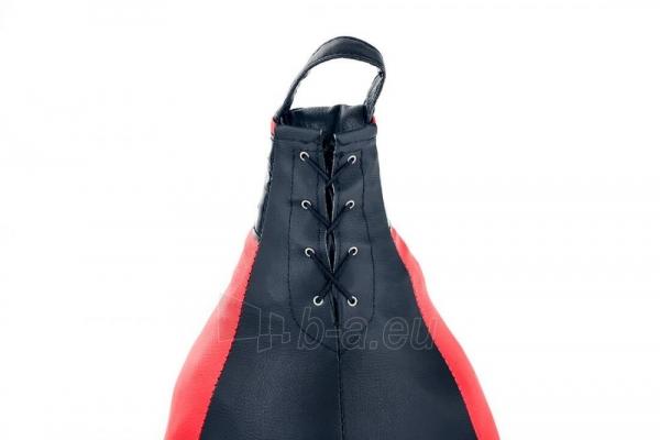Dirbtinės odos bokso kriaušė Ring Sport juoda/raudona 5kg Large Paveikslėlis 4 iš 7 310820250553