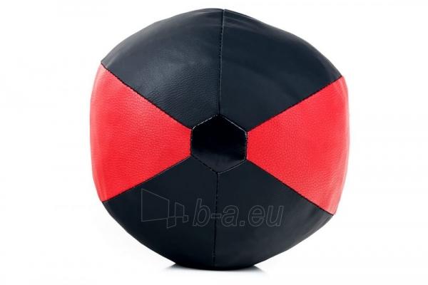 Dirbtinės odos bokso kriaušė Ring Sport juoda/raudona 5kg Large Paveikslėlis 6 iš 7 310820250553