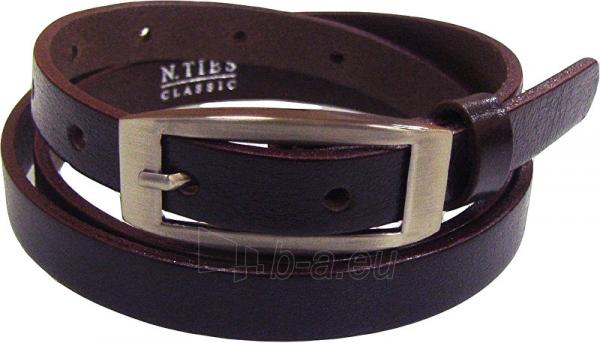 Diržas N.Ties Ladies brown leather belt OKD15004 Paveikslėlis 1 iš 1 310820121334