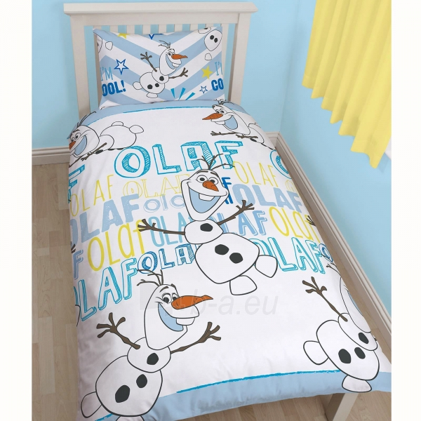 DISNEY Ledo šalis linksmasis Olafas dvipusės patalynės komplektas Paveikslėlis 3 iš 3 30115700694