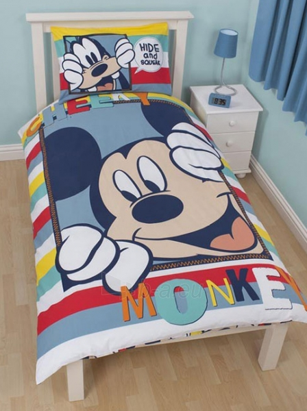 """DISNEY Mickey Mouse dvipusės patalynės komplektas """"Play"""" Paveikslėlis 1 iš 3 30115700705"""
