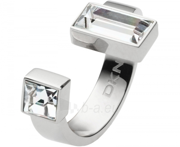 DKNY Fashion plieninis žiedas su kristalu NJ2243040 (Dydis: 57 mm) Paveikslėlis 1 iš 1 310820023170