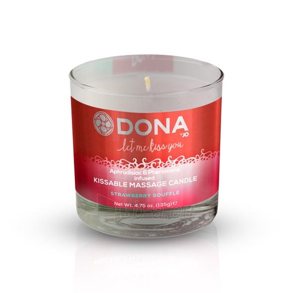 Dona masažo žvakė (Braškių sufle skonio) Paveikslėlis 1 iš 1 310820220854