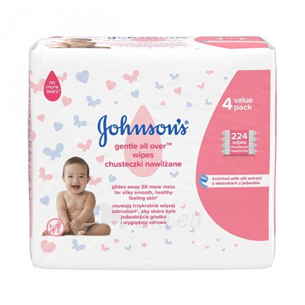 Drėgnos servetėlės JOHNSON`S Baby (Gentle All Over Wipes) 4 x 56 pcs Paveikslėlis 1 iš 1 310820208479