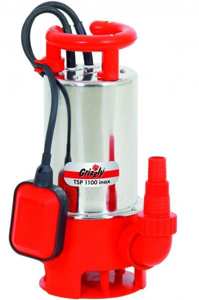 Drenažinis siurblys purvinam vandeniui 1100W Grizzly TSP 1100 Inox Paveikslėlis 1 iš 3 2708300000001