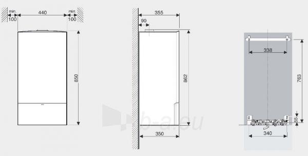 Dujinis kondensacinis katilas Bosch Condens, GC 7000iW, 24/28C, momentinis vandens ruošimas, baltas Paveikslėlis 5 iš 5 310820194509