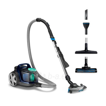 Dulkių siurblys Philips PowerPro Active vacuum cleaner FC9556/09 Bagless, Louros Blue, 750 W, 1.5 L, 76 dB, HEPA filtration system, Paveikslėlis 1 iš 6 310820223874