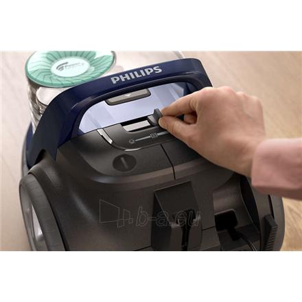 Dulkių siurblys Philips PowerPro Active vacuum cleaner FC9556/09 Bagless, Louros Blue, 750 W, 1.5 L, 76 dB, HEPA filtration system, Paveikslėlis 3 iš 6 310820223874