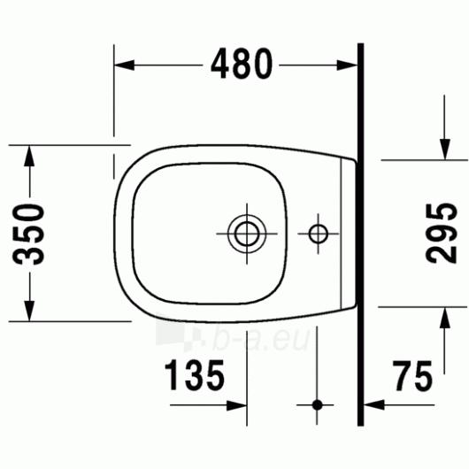 Duravit D-Code pakabinama bidė Compact Paveikslėlis 1 iš 4 270715000086