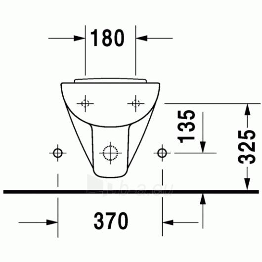 Duravit D-Code pakabinama bidė Compact Paveikslėlis 3 iš 4 270715000086