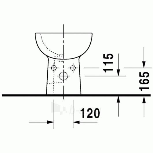 Duravit D-Code pastatoma bidė 35,5x52,5 Paveikslėlis 1 iš 4 270715000087