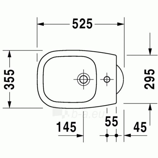 Duravit D-Code pastatoma bidė 35,5x52,5 Paveikslėlis 2 iš 4 270715000087