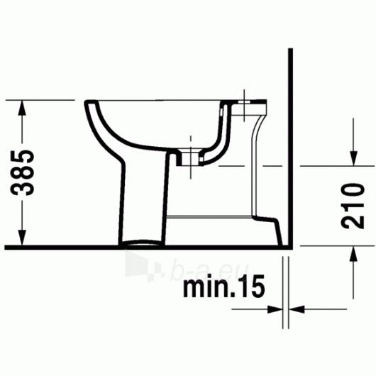 Duravit D-Code pastatoma bidė 35,5x52,5 Paveikslėlis 3 iš 4 270715000087