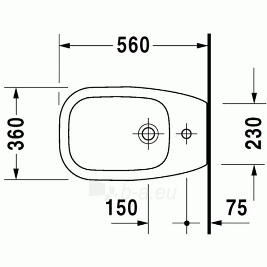 Duravit D-Code pastatoma bidė 36x56 Paveikslėlis 3 iš 4 270715000089