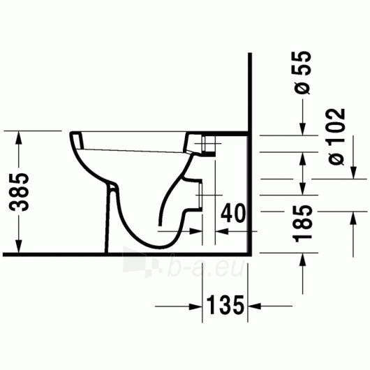 Duravit D-Code actable toilet 35,5x56 Paveikslėlis 3 iš 4 270713000453
