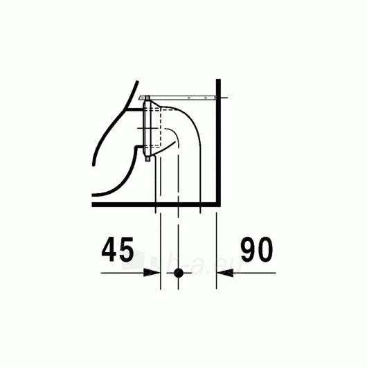 Duravit D-Code actable toilet 35,5x56 Paveikslėlis 4 iš 4 270713000453