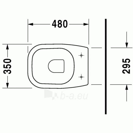 Duravit D-Code actable toilet 35x48 Paveikslėlis 2 iš 4 270713000454