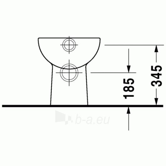 Duravit D-Code actable toilet 35x48 Paveikslėlis 3 iš 4 270713000454