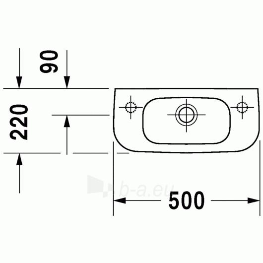 Duravit D-Code praustuvas 50x22 Paveikslėlis 1 iš 4 270711000657