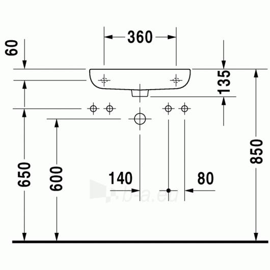 Duravit D-Code praustuvas 50x22 Paveikslėlis 2 iš 4 270711000657