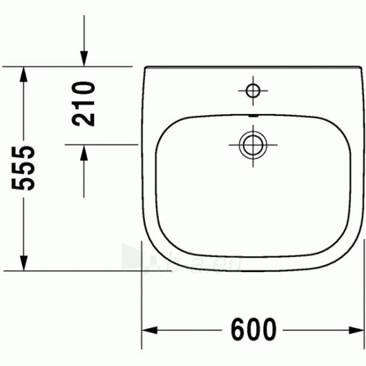Duravit D-Code praustuvas 60x55 Paveikslėlis 1 iš 4 270711000660