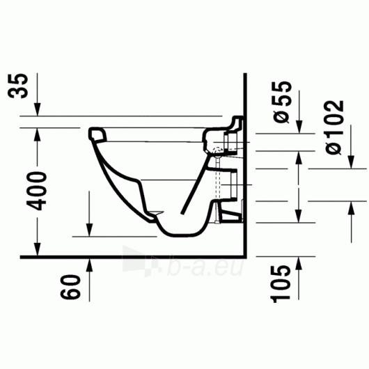 Duravit Starck3 hanging toilet Compact Paveikslėlis 2 iš 4 270713000464