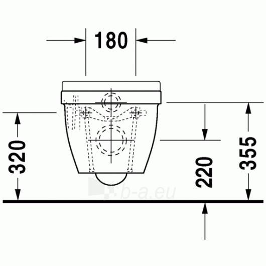 Duravit Starck3 hanging toilet Compact Paveikslėlis 3 iš 4 270713000464