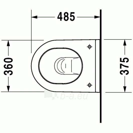 Duravit Starck3 hanging toilet Compact Paveikslėlis 4 iš 4 270713000464