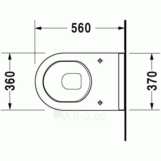 Duravit Starck3 actable toilet withaut tank Paveikslėlis 2 iš 5 270713000466